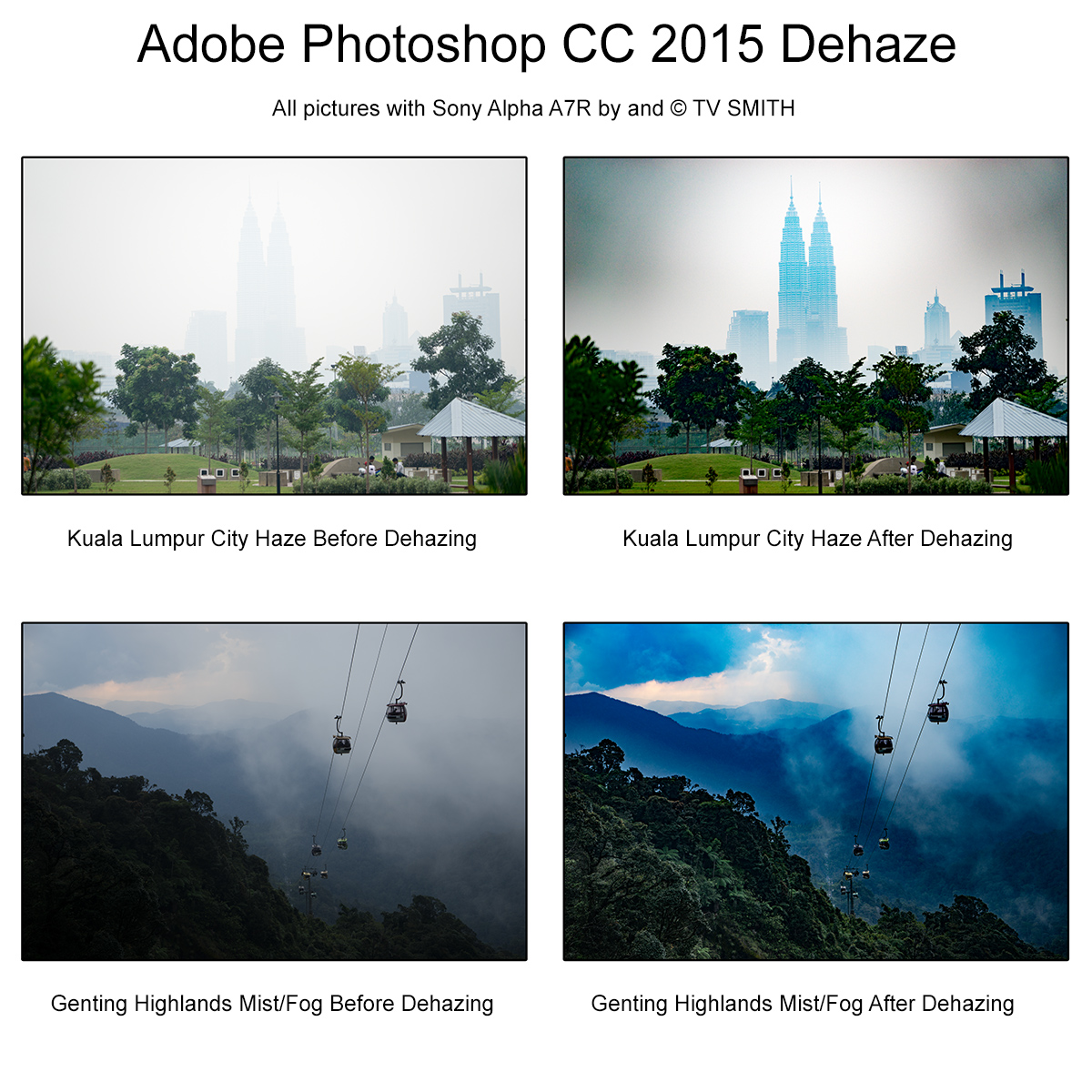 Adobe Photoshop CC 2015 Dehaze Demo