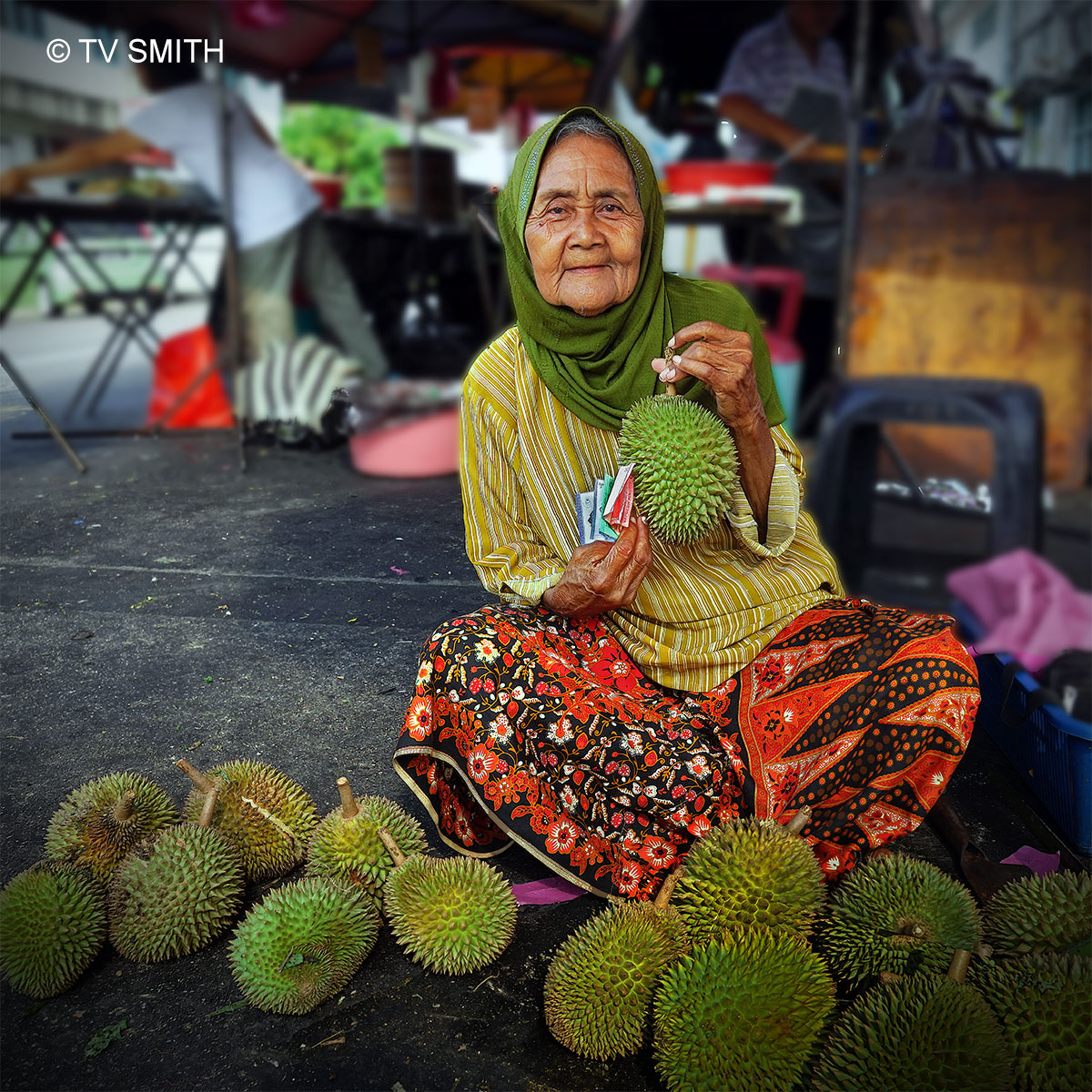 The Cheerful Durian Seller