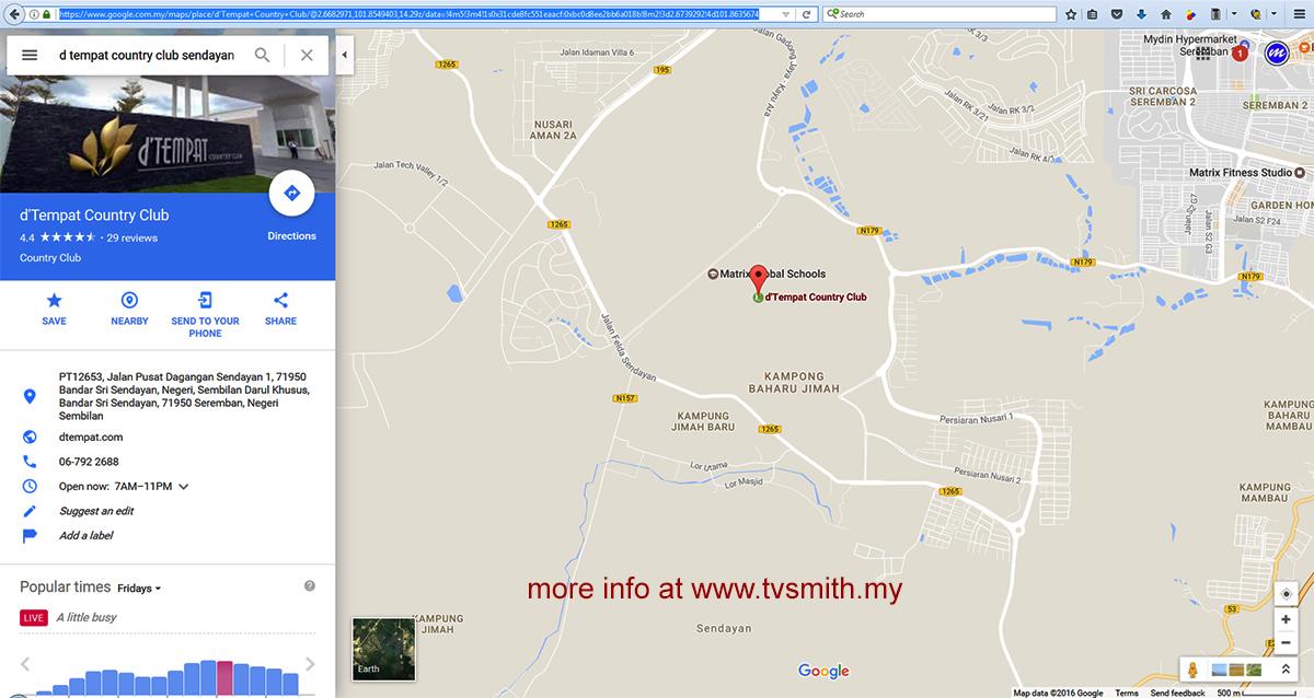 Where Is Santa Factory Or Tempat Country Club In Bandar Sri Sendayan?