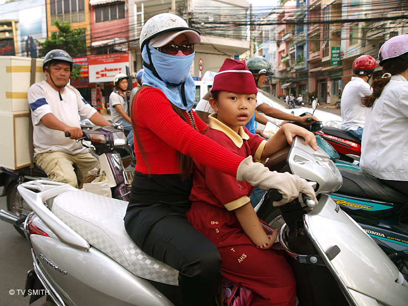 In The Midst Of Saigon's Crazy Traffic